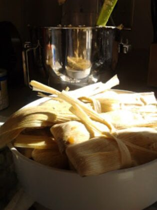 Corn and Black Bean Tamales