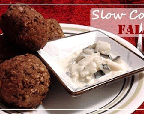 Indian Falafel | @VeggieConverter slowcooker crockpot