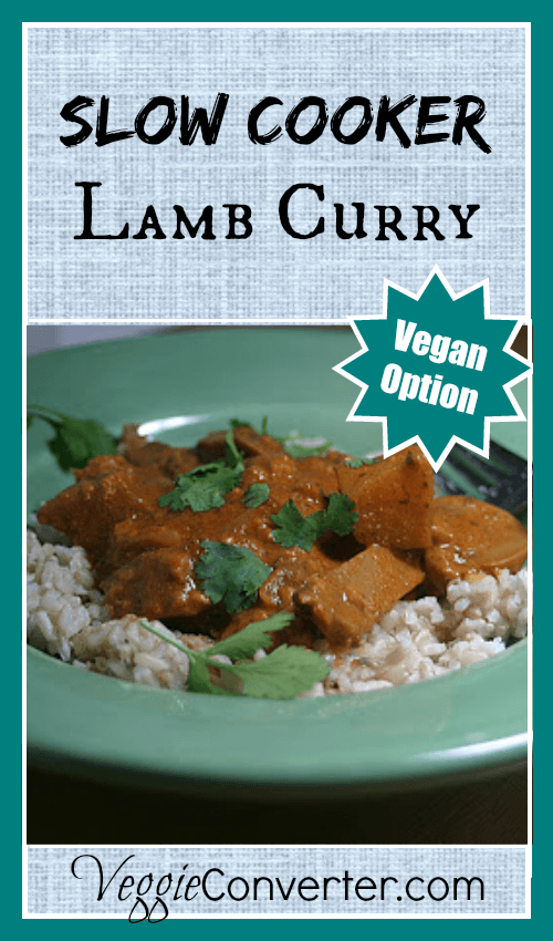Slow Cooker Lamb Curry (with Vegan Option)