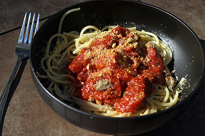 Spaghetti with Vegan Meat Sauce