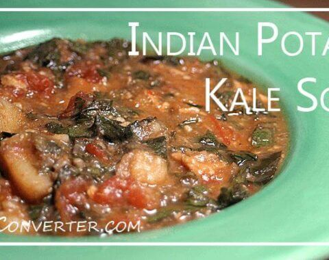 Indian Potato Kale Soup | @VeggieConverter slowcooker crockpot vegan