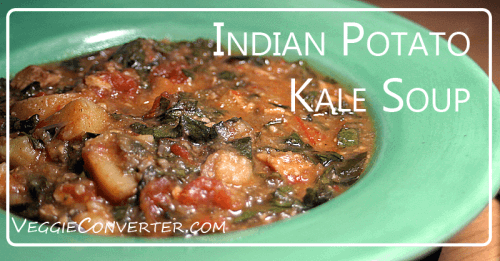 Vegan Slow Cooker Indian Potato Kale Soup