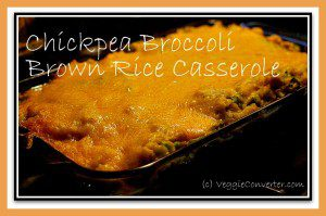 Chickpea Broccoli Rice Casserole