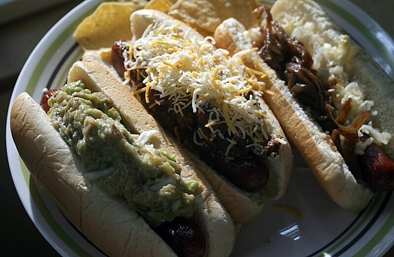 Topped Hotdogs