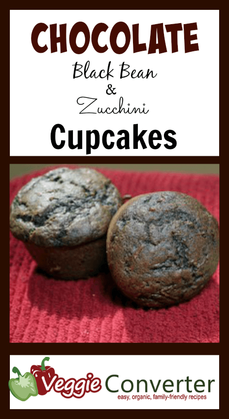 Chocolate Black Bean and Zucchini Cupcakes