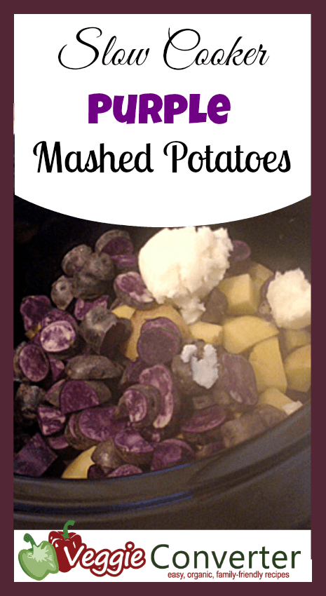 Slow Cooker Purple Mashed Potatoes