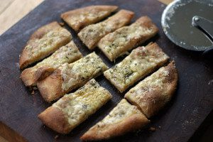 Homemade Whole Wheat Garlic Cheese Sticks Recipe and Superbowl Snacks Round-Up