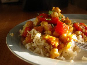 Quick Skillet Chickpea Curry: Vegan, Gluten-Free