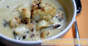Paleo Vegan Curry Roasted Cauliflower Soup
