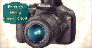 January Giveaway: Camera Giveaway—$400 Value!!