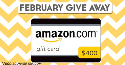 Amazon Gift Card Giveaway | @VeggieConverter