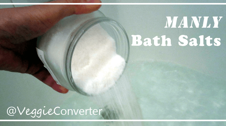 Manly Bath Salts | @VeggieConverter diybeauty diy manly