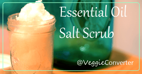 Essential Oil Salt Scrub | @VeggieConverter