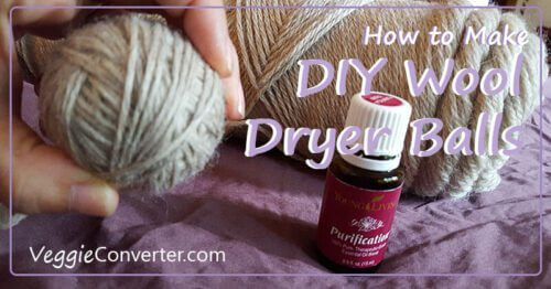 How to Make DIY Wool Dryer Balls @VeggieConverter