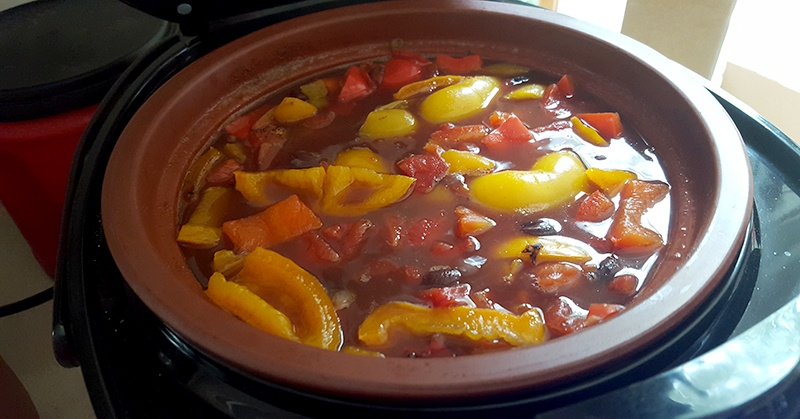 Black Bean Soup with Peppers preblend | @VeggieConverter