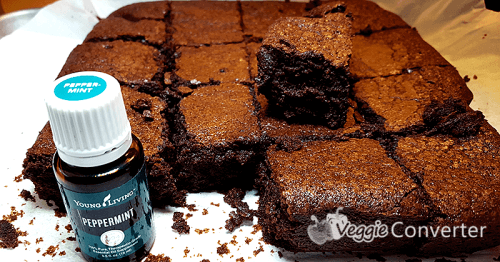 Gluten-Free Peppermint Essential Oil Brownies inspired by Alton Brown