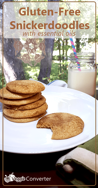 Gluten-Free Snickerdoodles with Essential Oils | @VeggieConverter