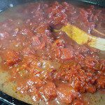 Meat Sauce over Gluten-Free Pasta - Combine the sauces
