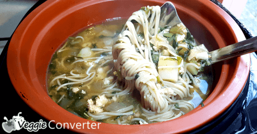 Paleo Chicken Noodle Soup Recipe | @VeggieConverter