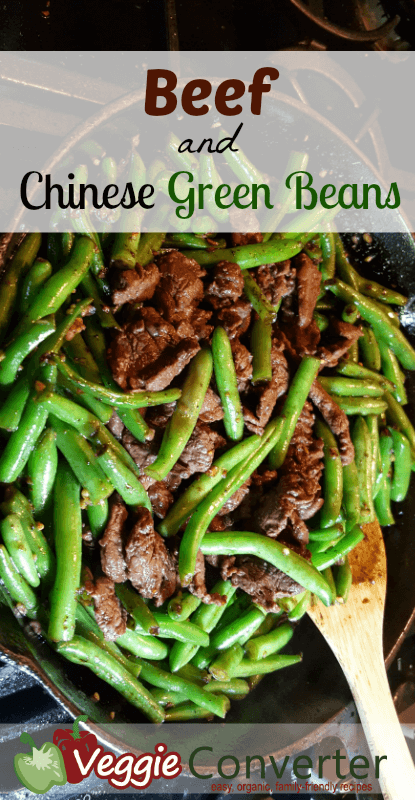 Beef and Chinese Green Beans | @VeggieConverter