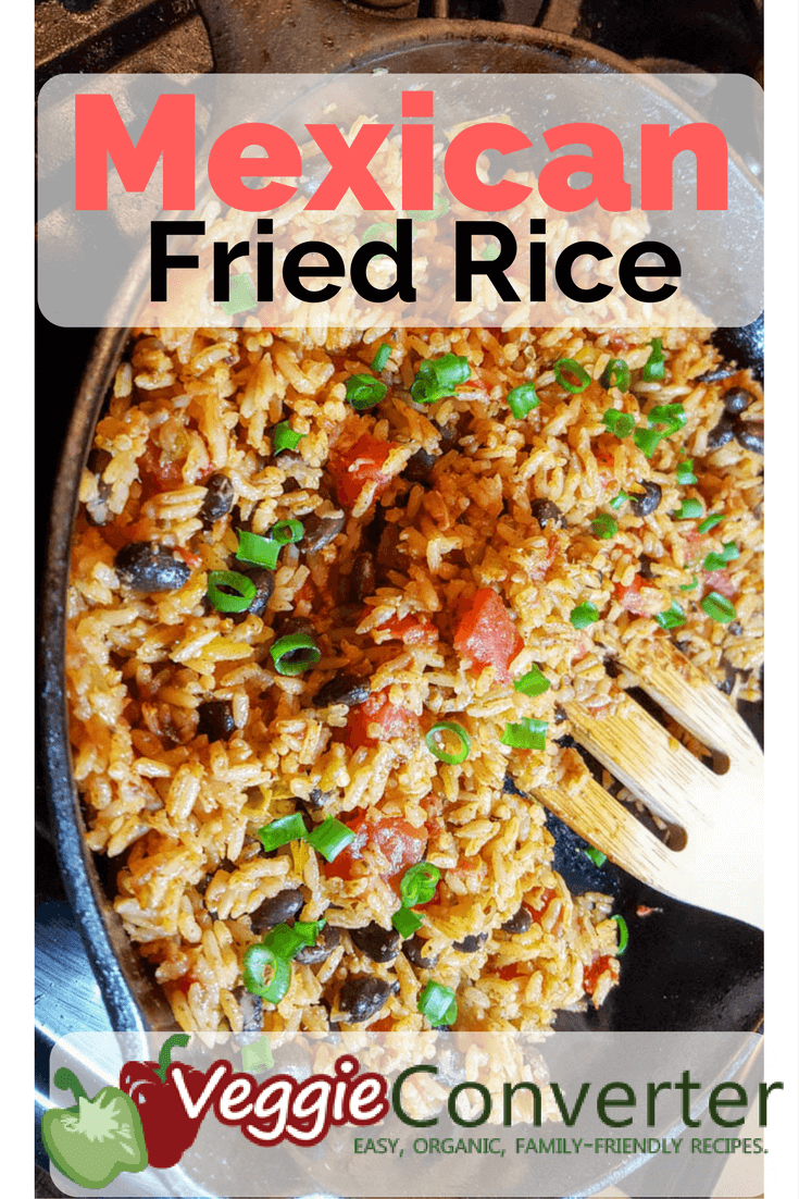 Mexican Fried Rice | @VeggieConverter