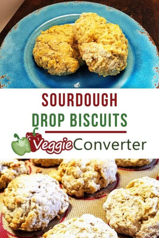 Sourdough Drop Biscuits @VeggieConverter