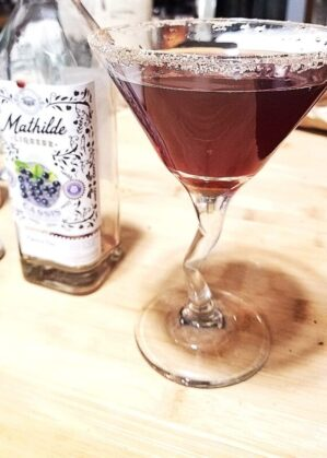 Black Currant Lime Martini