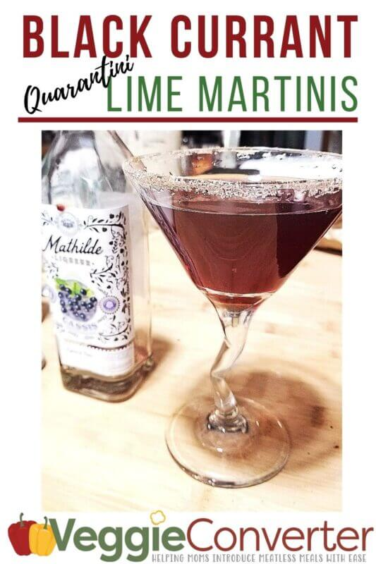 Black Currant Lime Martinis PIN